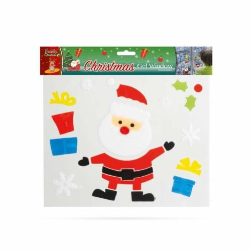Zselés ablakdekor - karácsonyi - XXL