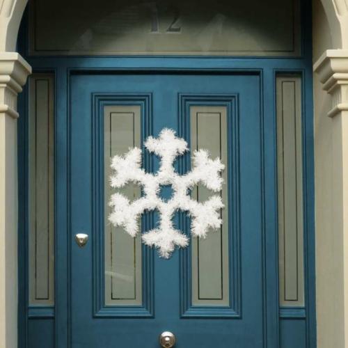 Karácsonyi ajtódísz - hópehely