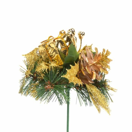 Karácsonyi dekor összeállítás - 21 cm - arany