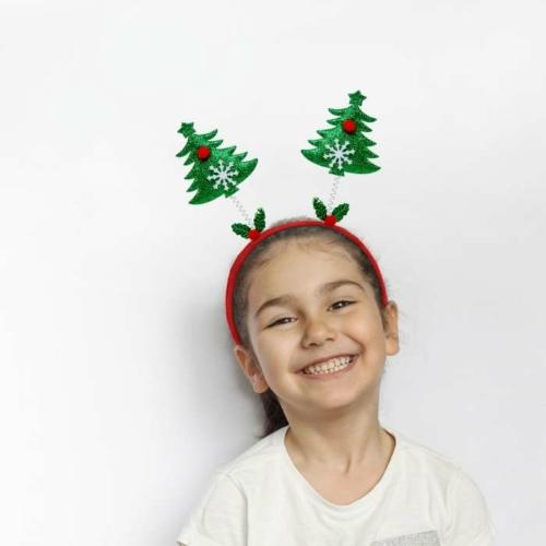 Karácsonyi hajráf szett - mikulás, karácsonyfa, rénszarvas