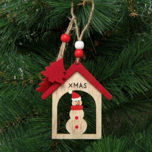Karácsonyfadísz - hóember - akasztható - 17,5 x 7,5 cm