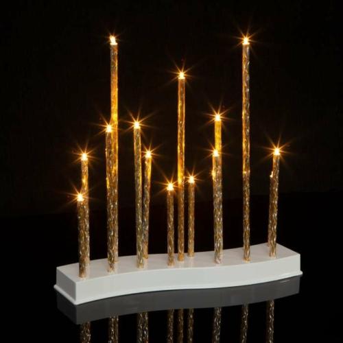 Karácsonyi LED gyertya dekoráció - 15 LED - melegfehér - 3 x AA
