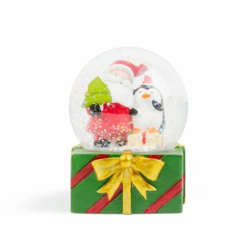 Karácsonyi LED-es hógömb - 4 féle