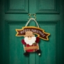 Kép 1/5 - Karácsonyi ajtódísz - többféle - hinta - 16 x 20 cm
