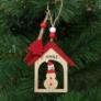Kép 1/2 - Karácsonyfadísz - hóember - akasztható - 17,5 x 7,5 cm